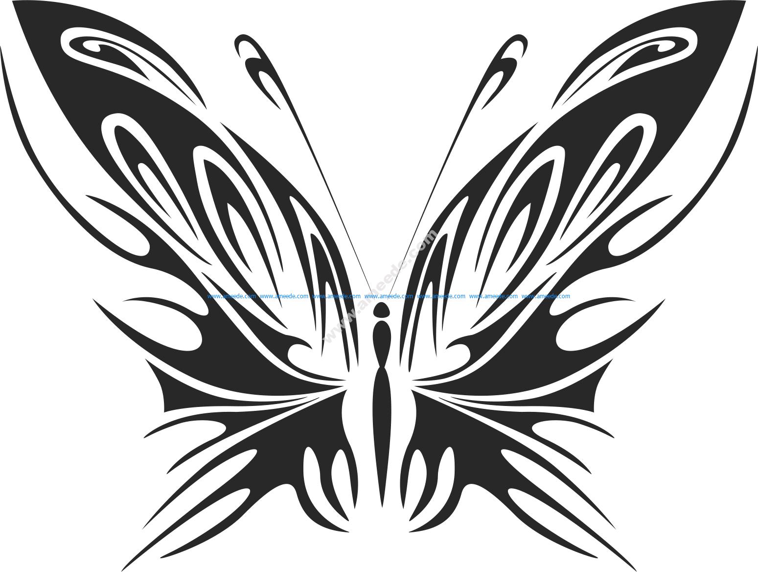 Tribal Butterfly Vector Art 40