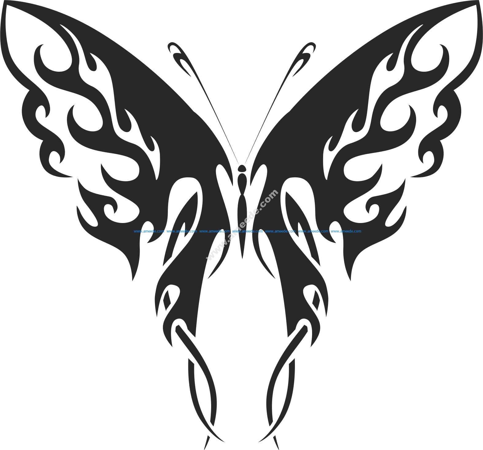 Tribal Butterfly Vector Art 41