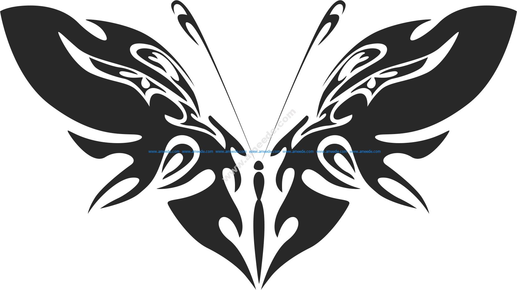 Tribal Butterfly Vector Art 42