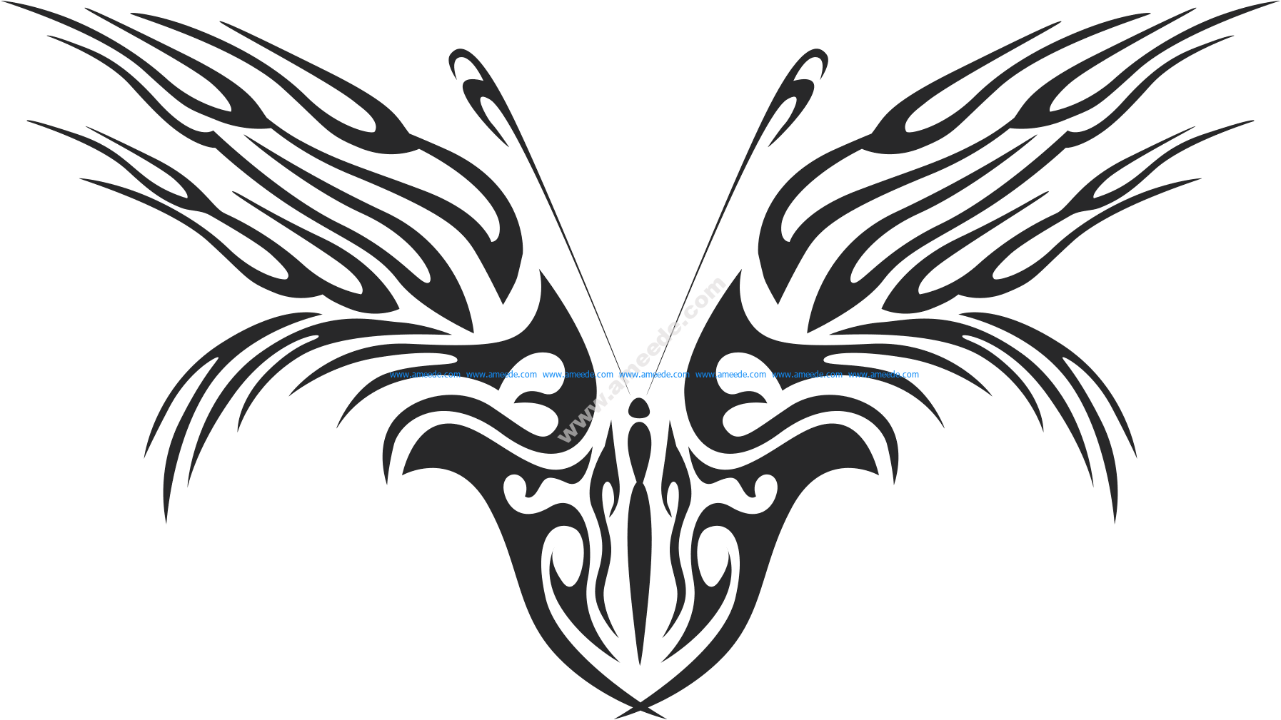 Tribal Butterfly Vector Art 46