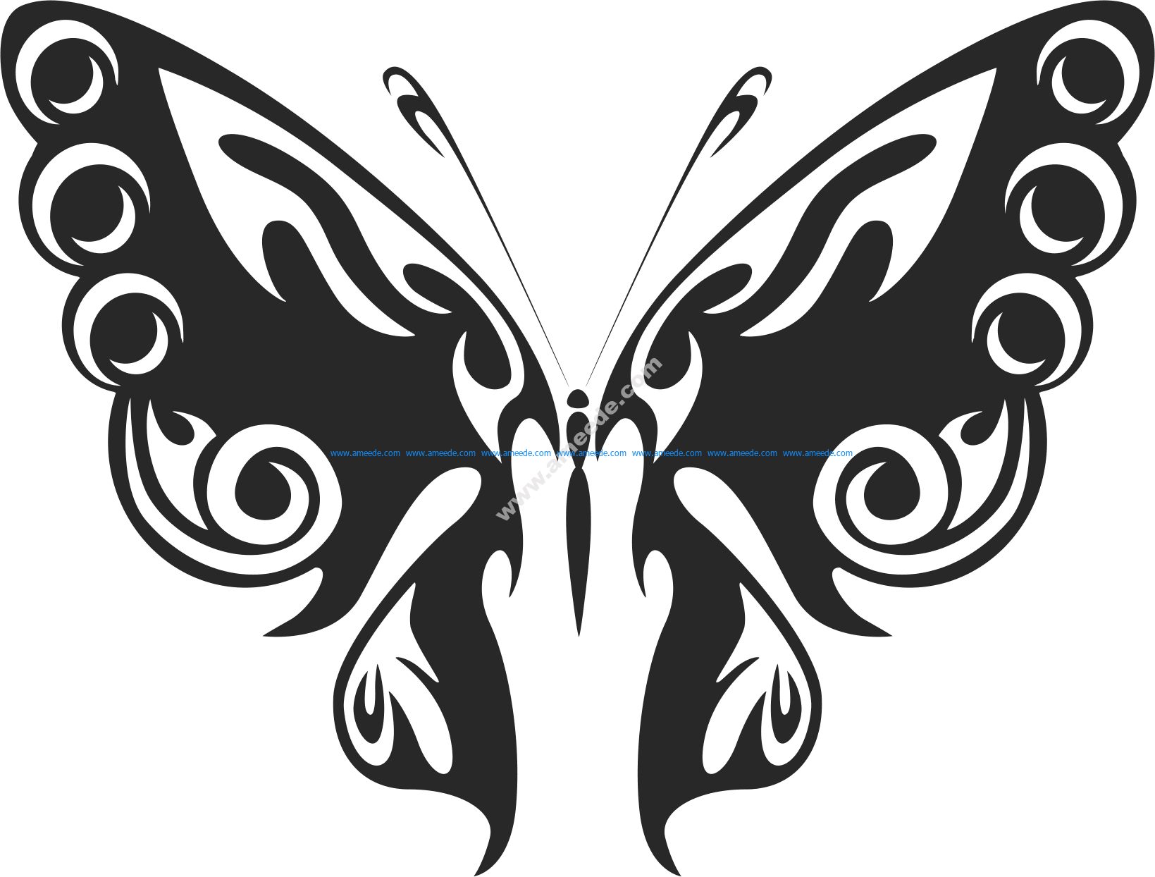Tribal Butterfly Vector Art 47