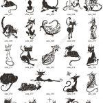 Tribal Cat Tattoo Vectors