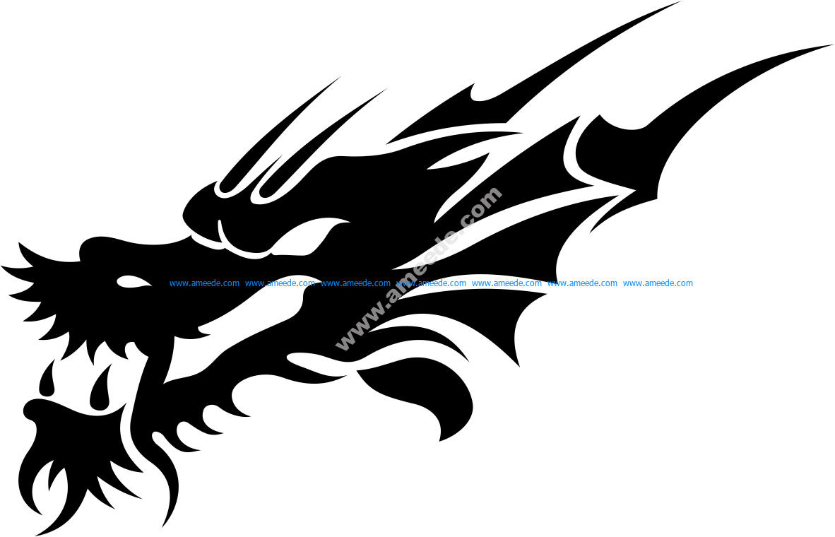 b38dcbad8 Tribal Dragon Tattoo Design Vector – Amee House