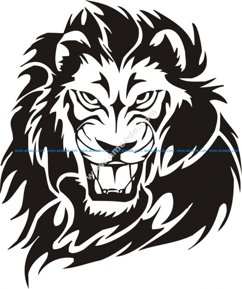 Tribal Lion Tattoo Design Vector Amee House