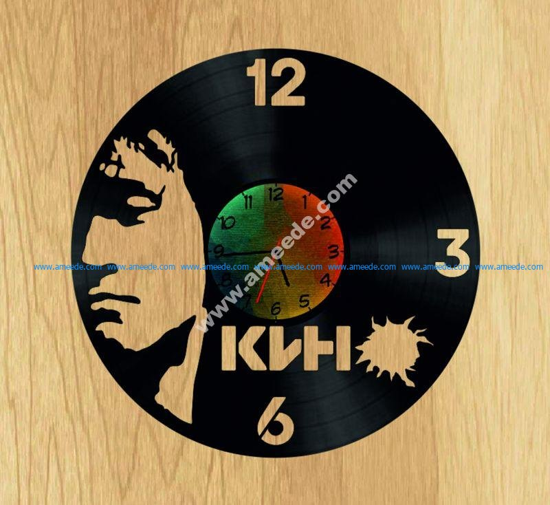 Tsoy V Vinyl Record DIY Clock