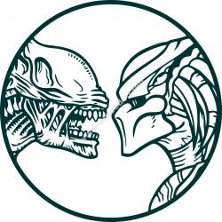 Vector Alien vs predator wall decals