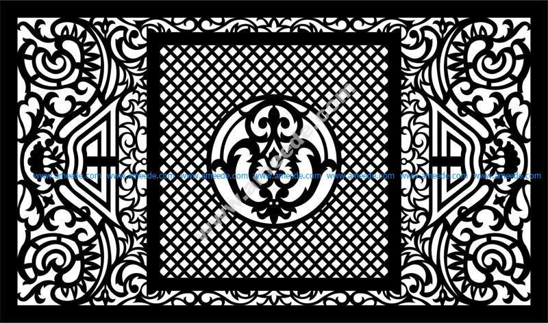 Vector Laser Cut Panel Pattern Template EPS File