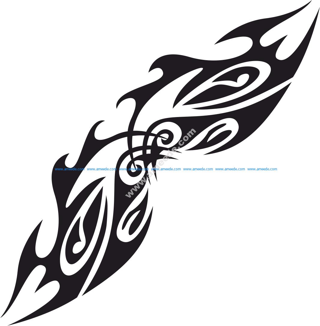 Vector Tribal Tattoo Design