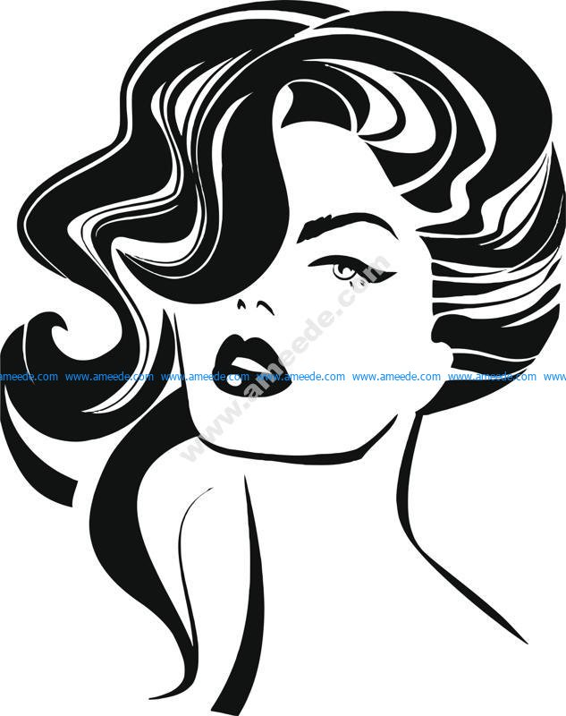 Vintage woman face Fashion and Hair Vector