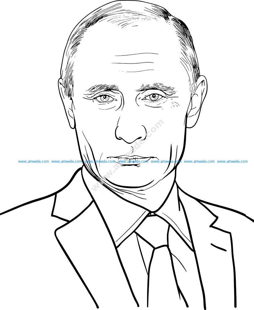 Vladimir Putin Illustration Vector