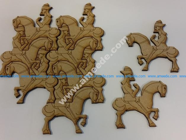 Wall Art Puzzle Man on Horse