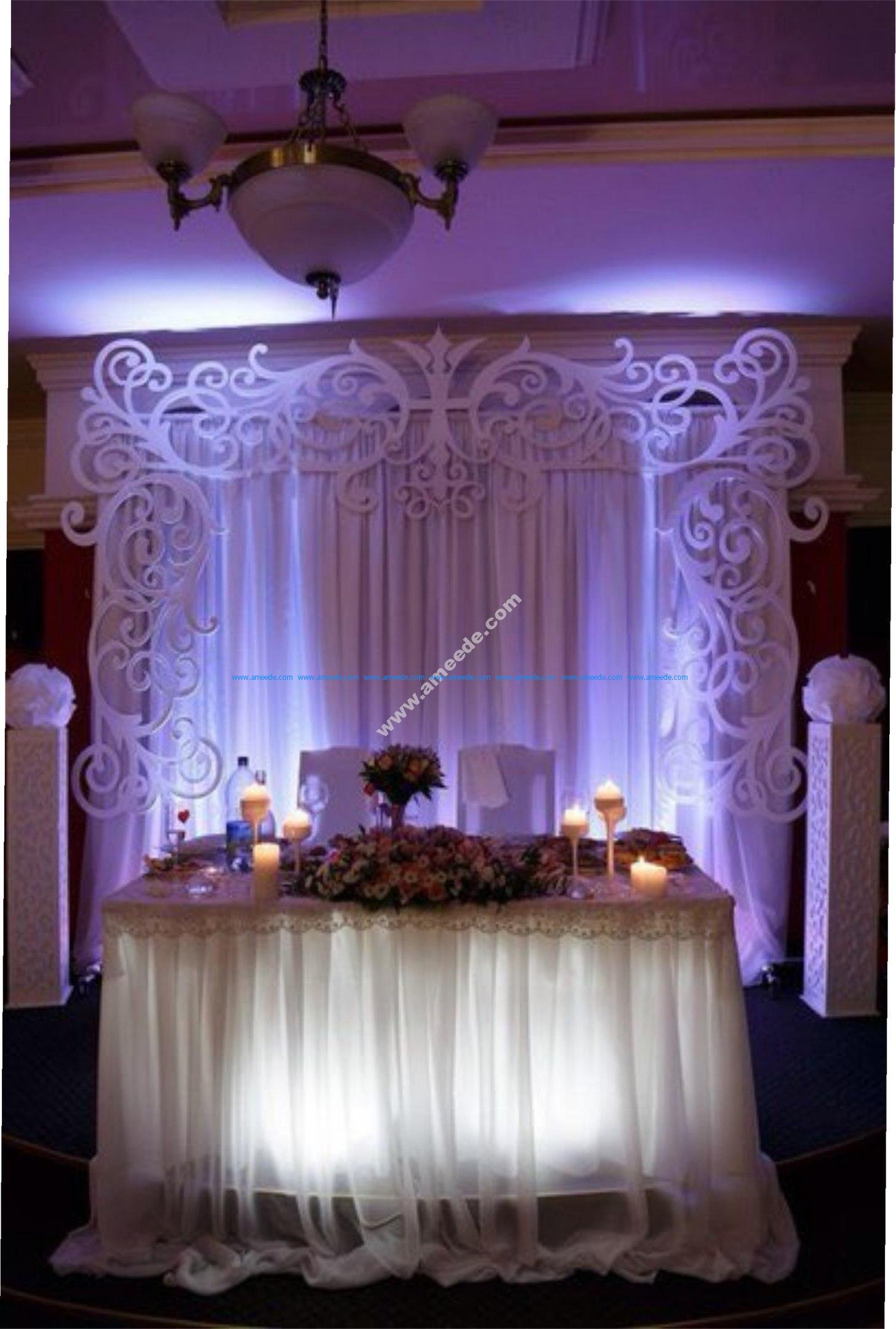 Wedding Settee Back Decorations