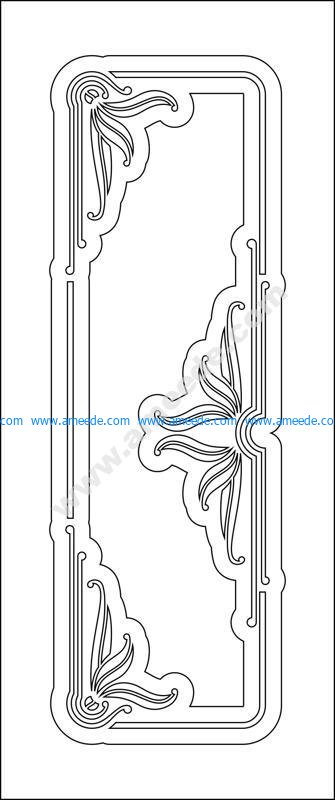 Wood room door design vector