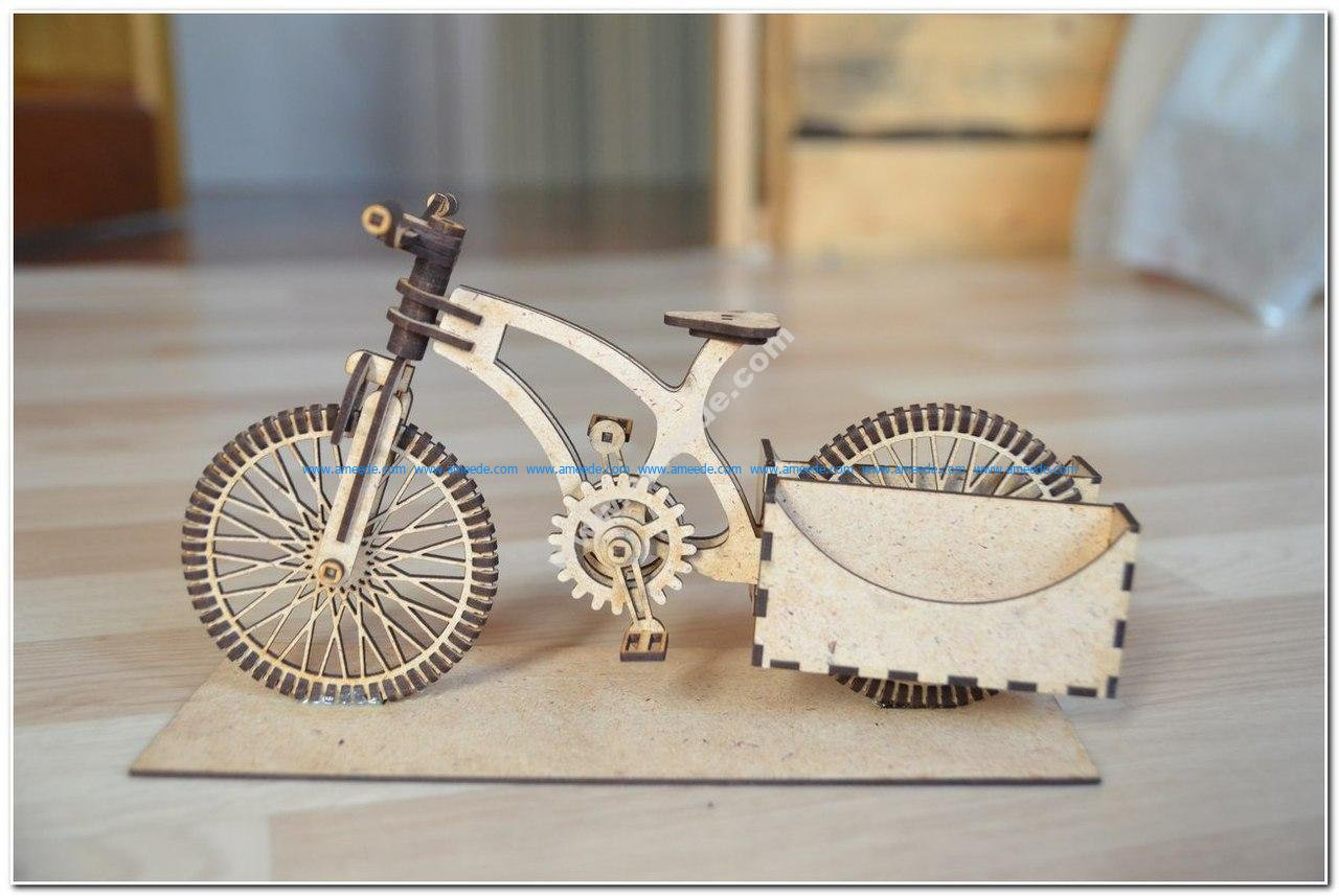Wooden Organizer A Bike