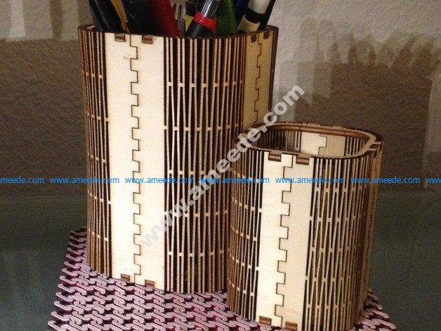 Wooden pen stand 3mm