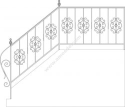Wrought Iron Stairs Railing, Fence And Grilles