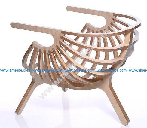 kreslo-rakushka Elegant chair plan for CNC