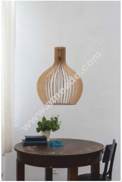 Stylish Lamp 3D Puzzle Plan Free Vector