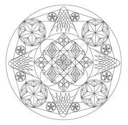Abstract mandala by Allan