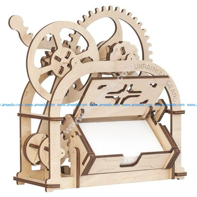 Card holder Mechanical 3D wooden puzzle Box 4 Mm – Graphic