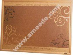 Customizing a Cork Bulletin Board with a Laser