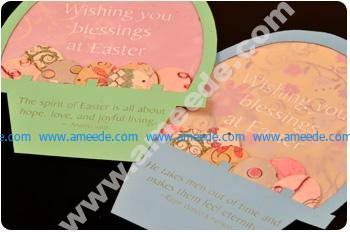 Easter Card Cut with a Laser