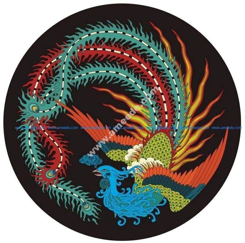 Fenghuang bird design