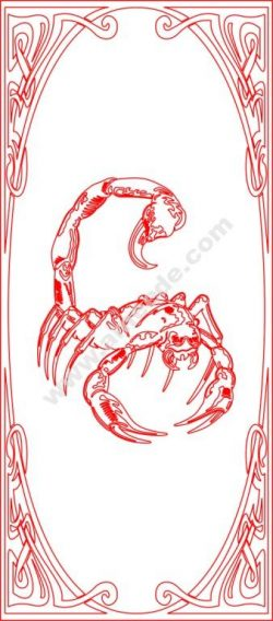 Kitchen Cabinet Door Scorpio Engraved