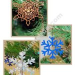 Laser Cut Snowflake Ornaments from Wood, Paper and Foam