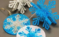 Laser Cutting Acrylic Snowflake Ornaments