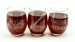 Laser Engraving Holiday Wine Glasses