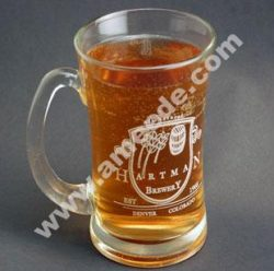 Laser Etching a Glass Beer Mug