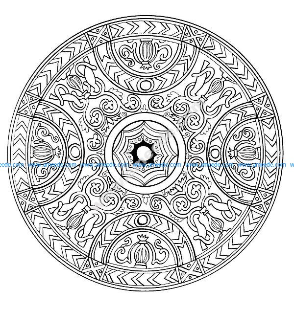 Mandala A Colorier Difficile 20 Download Free Vector