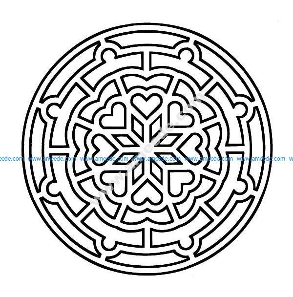 Mandala a colorier facile enfant 18