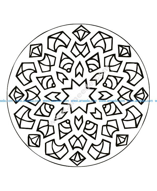 Mandala a colorier gratuit eclats de joie traits epais