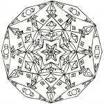 Mandala a colorier gratuit etoiles