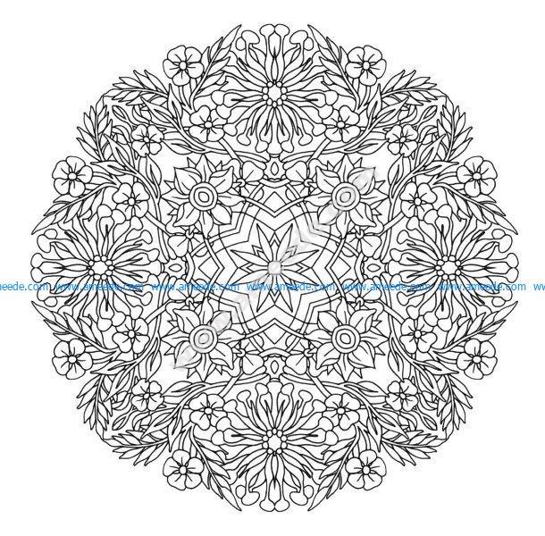 Mandala A Colorier Gratuit Fleurs Aux Grands Petales Amee House