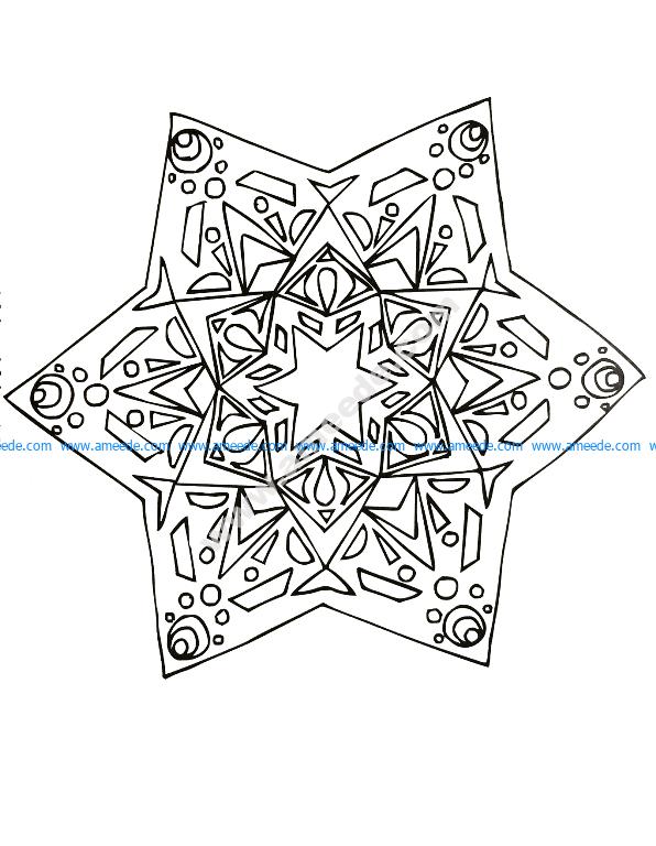 Mandala a colorier gratuit jolie etoile