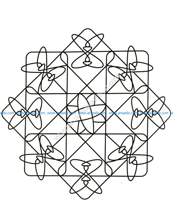 Mandala a colorier gratuit original et facile