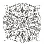 Mandala a colorier gratuit ronces