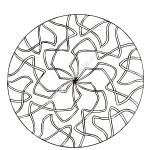 Mandala a colorier gratuit rubans