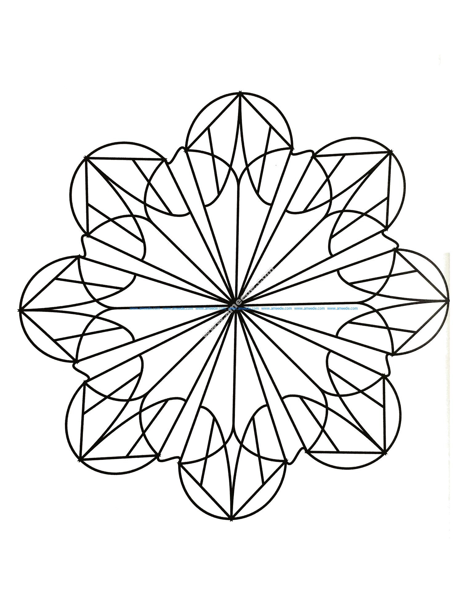 Mandala a colorier gratuit simplicite et harmonie