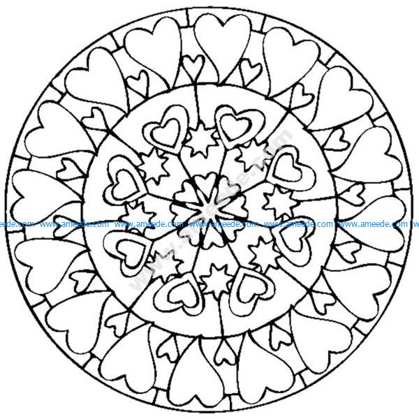 Mandala A Colorier Saint Valentin Amour Download Free Vector