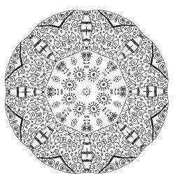 Mandala a colorier zen relax gratuit 11