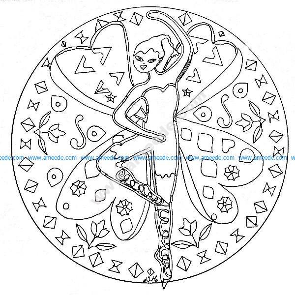 Mandala a imprimer fee dansante