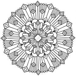 Mandala art deco simple