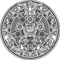 Mandala d un Dieu Incas ou Maya