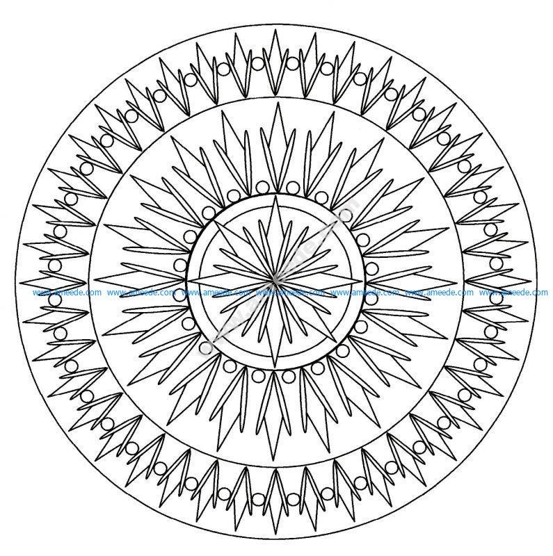 Mandala facile 2