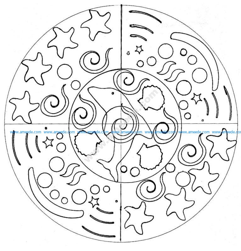 Mandala facile par domandala 6