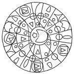 Mandala gratuit simplicite geometrique